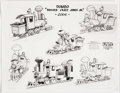 Animation Art:Model Sheet, Dumbo Casey Jones Jr. Studio Model Sheet (Walt Disney, 1941)....