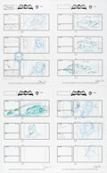 Original Comic Art:Miscellaneous, Barry Crain Batman: The Brave and the Bold S3 Complete Episode 7 Storyboard Original Production Art Group of 26 (W... (Total: 26 )