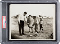 """Baseball Collectibles:Photos, 1932 Babe Ruth """"Fancy Curves"""" Promotional Photograph, PSA Type 1...."""