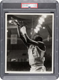 Basketball Collectibles:Photos, Early 1980's Michael Jordan at UNC Original Photograph by Malcolm Emmons, PSA/DNA Type 1....
