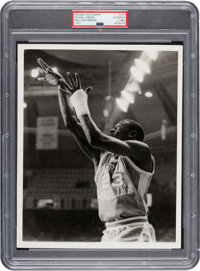 Early 1980's Michael Jordan at UNC Original Photograph by Malcolm Emmons, PSA/DNA Type 1