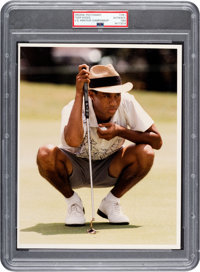 1993 Tiger Woods as an Amateur Original Photograph, PSA/DNA Type 1
