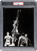 """Basketball Collectibles:Photos, 1968 Lew Alcindor and Elvin Hayes """"Game of the Century"""" Original Photograph, PSA/DNA Type 1...."""