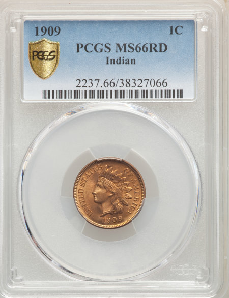 1909 1C Indian, RD PCGS Secure 66 PCGS