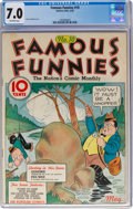 Platinum Age (1897-1937):Miscellaneous, Famous Funnies #10 (Eastern Color, 1935) CGC FN/VF 7.0 Off-white pages....