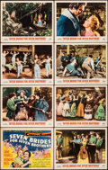 "Movie Posters:Musical, Seven Brides for Seven Brothers (MGM, 1954). Overall: Very Fine-. Lobby Card Set of 8 (11"" X 14""). Musical.. ... (Total: 8 Items)"