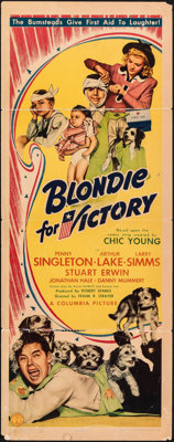 """Blondie for Victory (Columbia, 1942). Folded, Very Good/Fine. Insert (14"""" X 36""""). Comedy"""