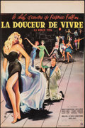 """Movie Posters:Foreign, La Dolce Vita (Consortium Pathé, 1960). Folded, Very Fine-. French Petite (15.5"""" X 23.5""""). Yves Thos Artwork. Foreign.. ..."""