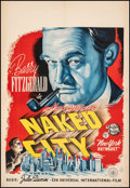 """Movie Posters:Crime, Naked City (Universal International, 1948). Very Fine- on European Linen. Dutch Poster (22.5"""" X 31.5""""). Crime.. ..."""