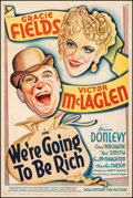 """Movie Posters:Comedy, We're Going to Be Rich (20th Century Fox, 1938). Fine+ on Linen. One Sheet (27"""" X 41""""). Comedy.. ..."""