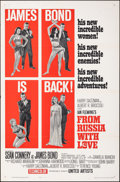 "Movie Posters:James Bond, From Russia with Love (United Artists, 1964). Folded, Very Fine-. One Sheet (27"" X 41"") Style B. James Bond.. ..."