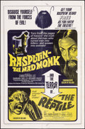 "Movie Posters:Horror, Rasputin the Mad Monk/The Reptile Combo & Other Lot (20th Century Fox, 1966). Folded, Fine+. One Sheets (2) (27"" X 41""). Hor... (Total: 2 Items)"