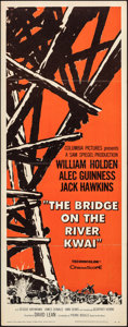 "Movie Posters:War, The Bridge on the River Kwai (Columbia, 1958). Folded, Very Fine-. Insert (14"" X 36""). War.. ..."