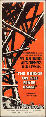 "The Bridge on the River Kwai (Columbia, 1958). Folded, Very Fine-. Insert (14"" X 36""). War"