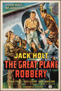 "Movie Posters:Crime, The Great Plane Robbery (Columbia, 1940). Very Fine on Linen. One Sheet (27.25"" X 41""). Crime.. ..."