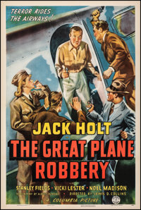 """The Great Plane Robbery (Columbia, 1940). Very Fine on Linen. One Sheet (27.25"""" X 41""""). Crime"""