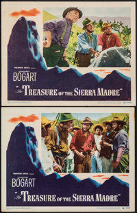 "The Treasure of the Sierra Madre (Warner Bros., 1948). Overall: Fine+. Lobby Cards (2) (11"" X 14""). Film Noir..."
