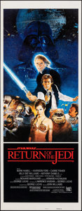 "Movie Posters:Science Fiction, Return of the Jedi (20th Century Fox, 1983). Rolled, Very Fine. Insert (14"" X 36"") Style B, Kazuhiko Sano Artwork. Science F..."
