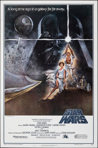 "Star Wars (20th Century Fox, 1977). Rolled, Very Fine-. Second Printing One Sheet (27"" X 41"") Style A, Tom Jun..."