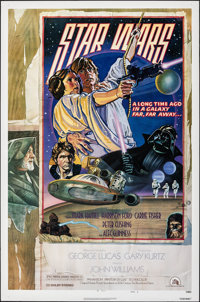 "Star Wars (20th Century Fox, 1977). Rolled, Very Fine. One Sheet (27"" X 41"") Style D, Drew Struzan and Charles..."