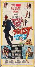 """Movie Posters:Rock and Roll, Twist Around the Clock (Columbia, 1961). Folded, Fine-. Three Sheet (41"""" X 78""""). Rock and Roll.. ..."""