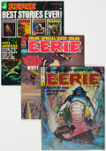 Magazines:Horror, Eerie Group of 44 (Warren, 1966-82) Condition: Average FN/VF.... (Total: 44 Comic Books)