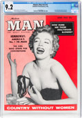 Magazines:Miscellaneous, Modern Man V5#12 Marilyn Monroe Cover (Modern Man, 1956) CGC NM- 9.2 White pages....