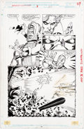 Original Comic Art:Panel Pages, George Perez and Joe Rubinstein Infinity Gauntlet #3 Story Page 22 Original Art (Marvel, 1991)....