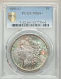 Morgan Dollars: , 1885-O $1 MS66+ PCGS. PCGS Population: (2859/361 and 312/53+). NGC Census: (4719/586 and 137/26+). CDN: $190 Whsle. Bid for...
