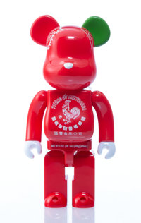 BE@RBRICK X BAIT X Huy Fong Foods Sriracha 400%, 2015 Painted cast resin 10-3/4 x 5-1/4 x 3 inches (27.3 x 13.3 x 7.6