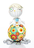 Collectible, Takashi Murakami (b. 1962). Mister Wink, Cosmos Ball, 2000. Painted cast vinyl. 10-1/2 x 7-1/4 x 7-1/4 inches (26.7 x 18...