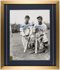 Baseball Collectibles:Photos, Ted Williams & Bobby Doerr Signed Large Photograph, PSA/DNA Auto 10....