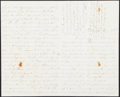 Autographs:Letters, 1860's Civil War Era Baseball Letter....