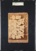 Baseball Cards:Singles (Pre-1930), 1892 New Orleans Cabinet Card with Schedule Back, SGC Authentic....