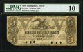 Obsoletes By State:New Hampshire, Dover, NH- Strafford Bank $5 Jan. 4, 1847 G44 PMG Very Good 10 Net.. ...
