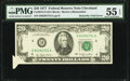 Error Notes:Foldovers, Butterfly Fold Error Fr. 2072-D $20 1977 Federal Reserve Note. PMG About Uncirculated 55 EPQ.. ...