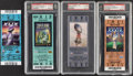 Football Collectibles:Tickets, 2002-15 Tom Brady Super Bowl Victory Full Ticket Lot of 4, with 3 Graded NM-MT 8 by PSA....