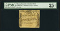 Colonial Notes:Massachusetts, Massachusetts October 18, 1776 9d PMG Very Fine 25 Net.. ...