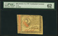 Colonial Notes:Continental Congress Issues, Continental Currency January 14, 1779 $30 PMG Uncirculated 62.. ...