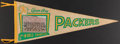 Football Collectibles:Others, 1961 Green Bay Packers World Champions Team Photograph Pennant....