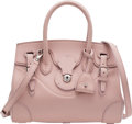 """Luxury Accessories:Bags, Ralph Lauren Light Pink Nappa Leather Soft Ricky 27 Bag. Condition: 3. 11"""" Width x 9"""" Height x 5"""" D..."""