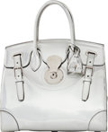 """Luxury Accessories:Bags, Ralph Lauren Silver Patent Leather Ricky 33 Bag. Condition: 4. 12.5"""" Width x 10"""" Height x 6.5"""" Dept..."""