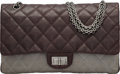 Luxury Accessories:Bags, Chanel Brown Quilted Caviar Leather & Gray Quilted Lambskin Leather 2.55 Reissue - 277 Bag with Gunmetal Hardware. Conditi...