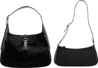 Gucci Set of Two: Black Shoulder Bags Condition: 3 See Extended Condition Report for Sizes... ... (Total: 2 )