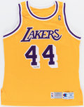Autographs:Jerseys, Jerry West Signed Los Angeles Lakers Jersey, Upper Deck Authenticated....