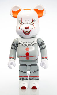 BE@RBRICK X IT Pennywise 1000%, 2019 Painted cast vinyl 28-1/2 x 14-1/2 x 9 inches (72.4 x 36.8 x 22.9 cm) No. 4 St