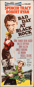"Movie Posters:Thriller, Bad Day at Black Rock (MGM, 1955). Folded, Fine/Very Fine. Insert (14"" X 36""). Thriller.. ..."