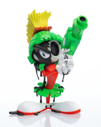 Matt Gondek (20th century) Aggression Marvin the Martian, 2018 Painted cast resin 10 inches (25.4