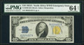 Small Size:World War II Emergency Notes, Fr. 2309 $10 1934A North Africa Silver Certificate. PMG Choice Uncirculated 64 Net.. ...