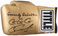 "Boxing Collectibles:Autographs, Gennady Golovkin ""GGG"" Signed Boxing Glove...."
